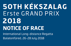 50TH KÉKSZALAG 2018 NOTICE OF RACE Erste GRAND PRIX